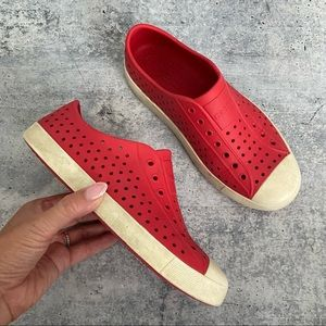 Native Jefferson Red EVA Perforated Slip on Shoes